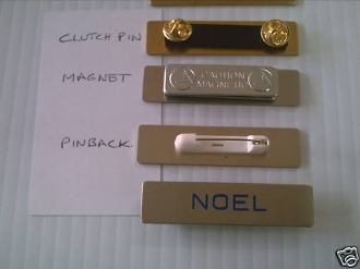 Custom Engraved Solid Metal Gold or Silver Badges